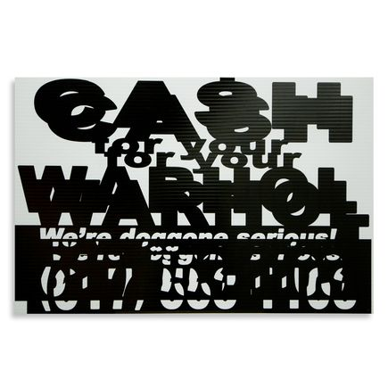 Cash For Your Warhol Hand-painted Multiple - We're Doggone Serious 10 - 12x18 Inch