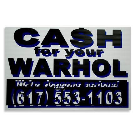 Cash For Your Warhol Hand-painted Multiple - We're Doggone Serious 11 - 12x18 Inch