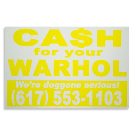 Cash For Your Warhol Hand-painted Multiple - We're Doggone Serious 16 - 12x18 Inch