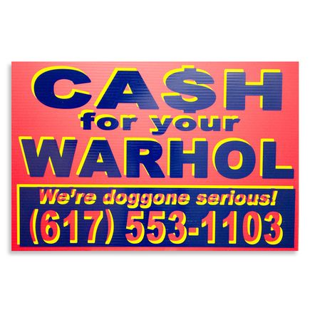 Cash For Your Warhol Hand-painted Multiple - We're Doggone Serious 17 - 12x18 Inch