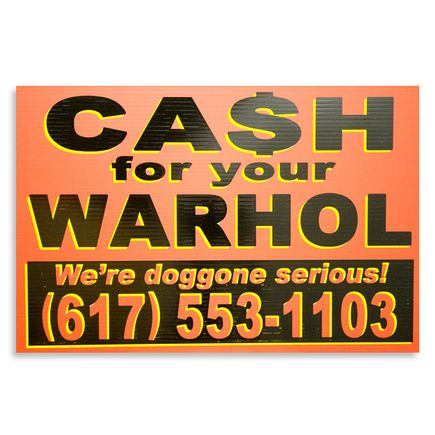 Cash For Your Warhol Hand-painted Multiple - We're Doggone Serious 28 - 12x18 Inch