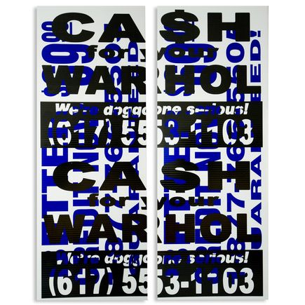 Cash For Your Warhol Hand-painted Multiple - We're Doggone Serious 38 - 18x24 Inch Dyptich