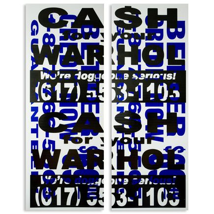 Cash For Your Warhol Hand-painted Multiple - We're Doggone Serious 39 - 18x24 Inch Dyptich