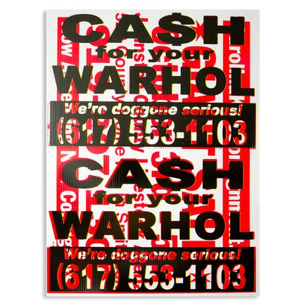 Cash For Your Warhol Hand-painted Multiple - We're Doggone Serious 34 - 18x24 Inch