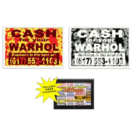 Cash For Your Warhol Art Print - 2-Print Set - Business Is the Best Art.