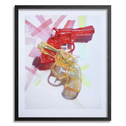Chad Pierce Art Print - Red & Yellow - Hand-Embellished Edition