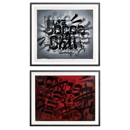 Chaz Bojorquez Art - 2-Print Set - Somos Locos + Tres Placas