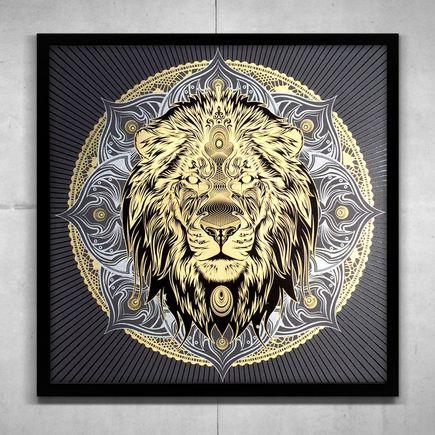 Chris Saunders Art - Lion Mandala