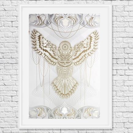 Chris Saunders Art Print - White Owlage