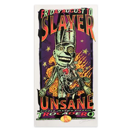 Psychic Sparkplug Art Print - Slayer - Trocadero - August 1996
