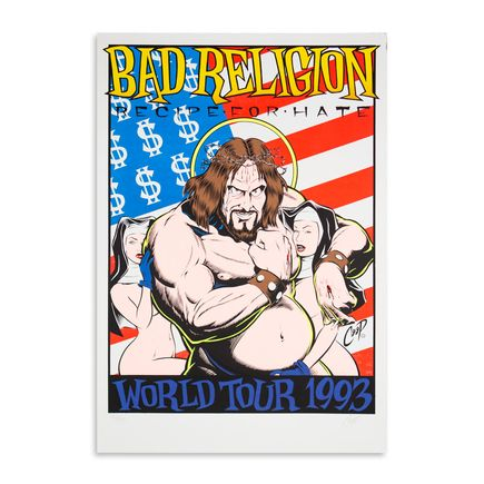 Coop Art - Bad Religion - World Tour Poster 1993