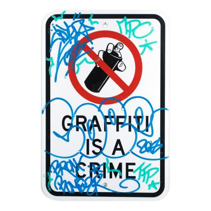 Cope2 Original Art - Graffiti Is A Crime - Variant 1 - I
