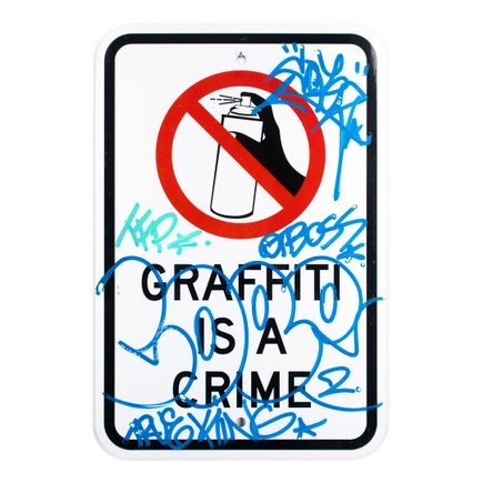 Cope2 Art - Graffiti Is A Crime - Variant 2 - II