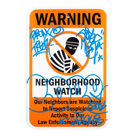 Cope2 Original Art - Neighborhood Watch - II