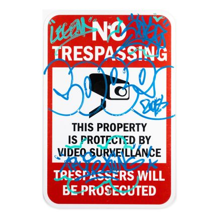 Cope2 Original Art - No Trespassing - 12 x 18 Inches - IV