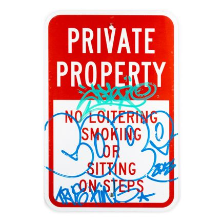 Cope2 Original Art - Private Property - 12 x 18 Inches