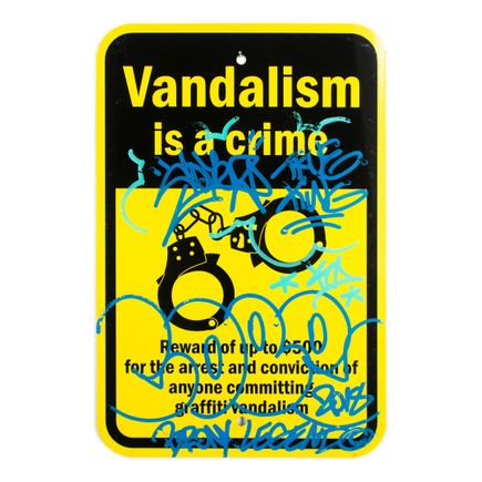 Cope2 Original Art - Vandalism Is A Crime - 12 x 18 Inches - II