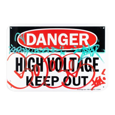 Cope2 Original Art - Danger - High Voltage