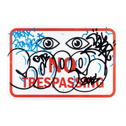 Cope2 Original Art - No Trespassing - 18 x 12 Inches