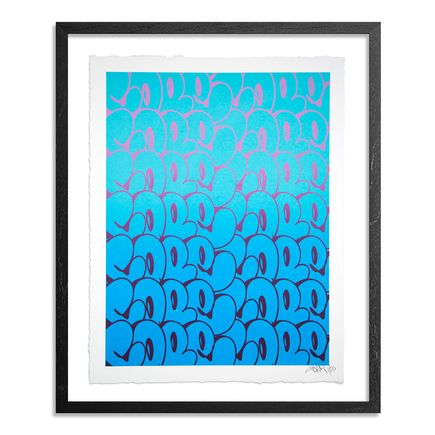 Cope2 Art Print - Stacked Bubble Throwies - Blue Edition
