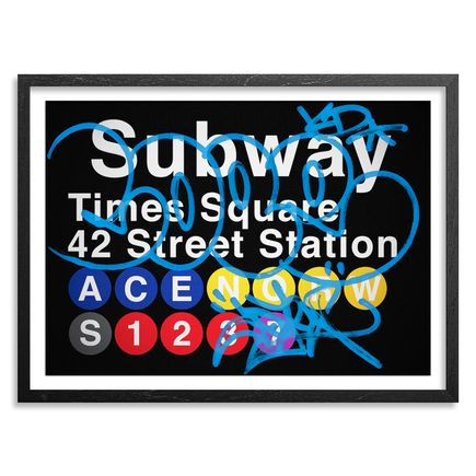 Cope2 Art Print - Blue Variant - 42 Street Station / Times Square