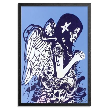 Copyright Art Print - Fallen Angel - Blue Edition