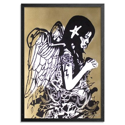 Copyright Art Print - Fallen Angel - Gold Edition