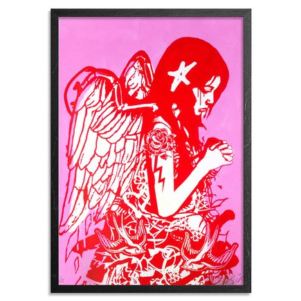 Copyright Art Print - Fallen Angel - Pink Edition