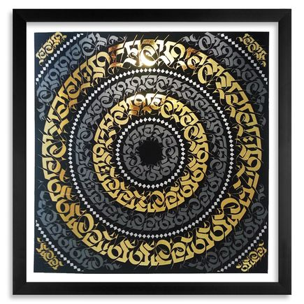 Cryptik Art Print - The Jewel In The Lotus - Gold Leaf Edition