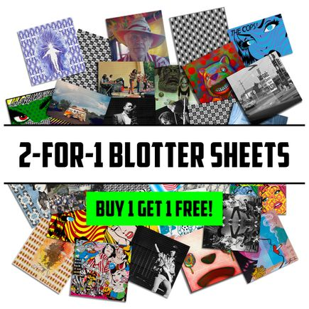 1xRUN Editions Art Print - 2-FOR-1 MYSTERY BLOTTER SHEETS