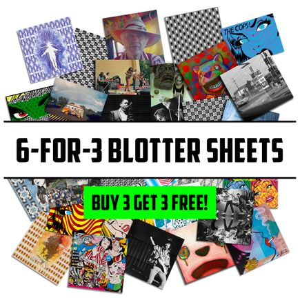 1xRUN Editions Art Print - 6-FOR-3 MYSTERY BLOTTER SHEETS