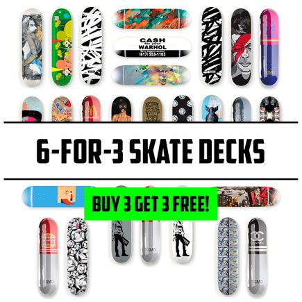 1xRUN Editions Art Print - 6-FOR-3 MYSTERY SKATE DECKS