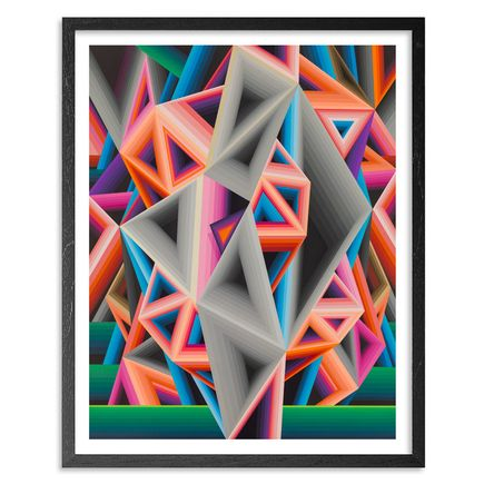 Dalek Art - Triangulation - Framed