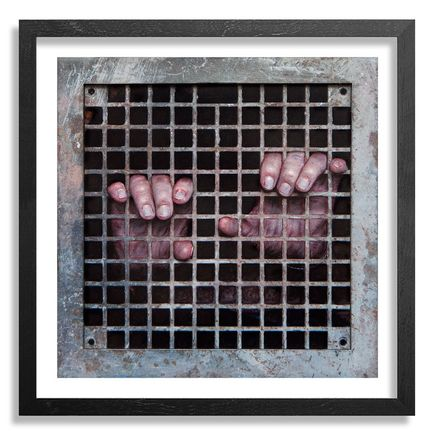 Dan Witz Art Print - Sanctuary Is It Safe