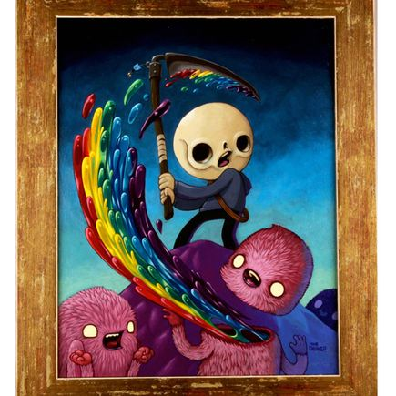 David Chung Original Art - Happiness Is Killed By Removing The Head or Destroying The Brain - Original Painting
