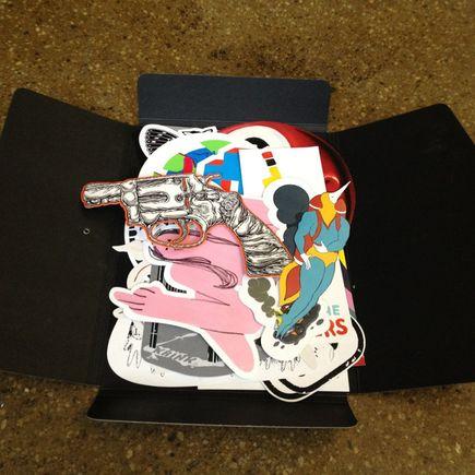 DB Burkeman Art - STUCK-UP Die-Cut Sticker Folio