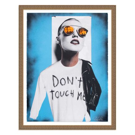 Dee Dee Art Print - Don't Touch Me - Blue Variant