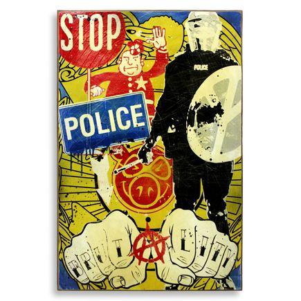 Denial Original Art - Stop Police Brutality
