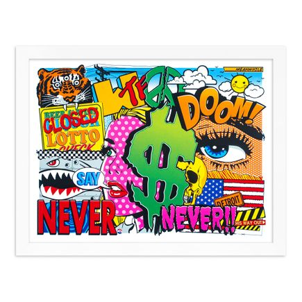 Denial Art Print - Never Say Never! - 12-Color Screen Print