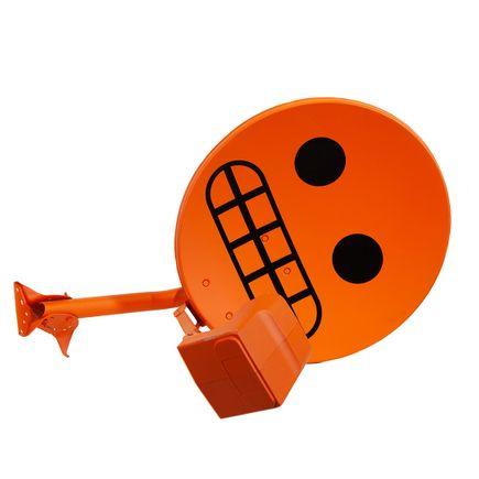 Denial Original Art - Satellite Dish - Orange Variant