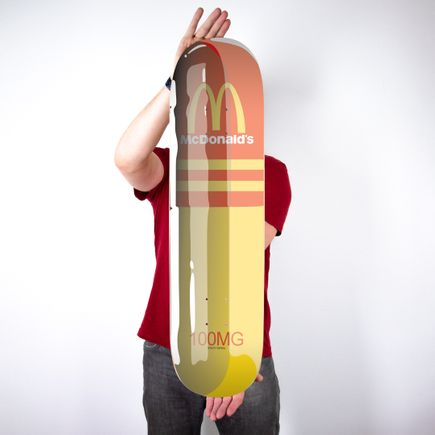 Denial Art Print - McDonald's Pill - Skate Day Variant