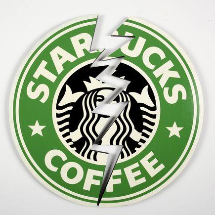 Denial Art - Starbucks Crack - 18 x 18 Inch Edition