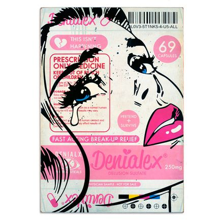 Ben Frost + Denial Original Art - Denialex - This Isn't Happening (Female)
