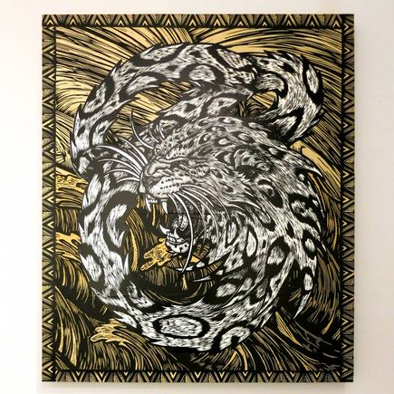 Dennis McNett Original Art - Snow Leopard's Last Breath