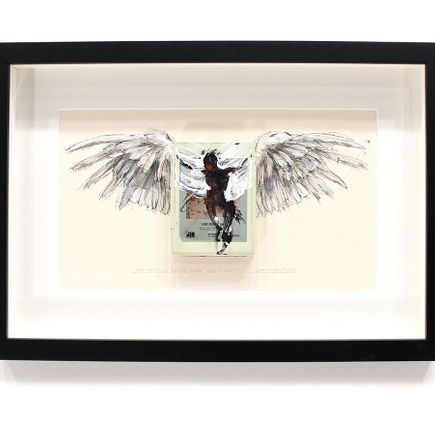 Derek Hess Original Art - Our Shadow's Taller Than Our Soul - Led Zepplelin IV