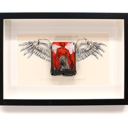 Derek Hess Original Art - Your God Has Fell - Molly Hatchet - Beatin' the Odds