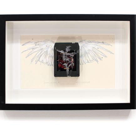 Derek Hess Original Art - I Wish I Had An Angel III - Kansas - Two For the Show