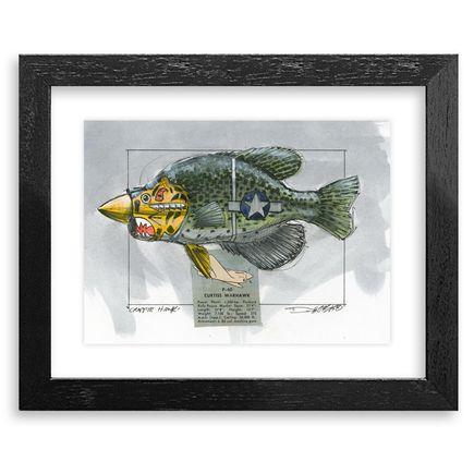 Derek Hess Original Art - Crappie Hawk - Original Artwork