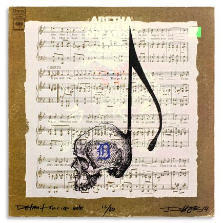Derek Hess Original Art - Detroit Suicide Note 12