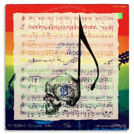 Derek Hess Original Art - Detroit Suicide Note 16
